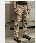 Men Urban Autumn Cotton Pants Outdoor Tactical Trousers Casual Military SWAT