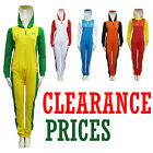 LADIES WOMENS FLEECE HOODED FOOTBALL PRINT ONESIE ALL IN ONE JUMPSUIT TRACKSUIT
