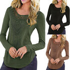 New Fashion Women Loose Long Sleeve Tops Blouse Shirt Casual Cotton T-Shirt Fall