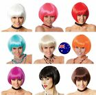 Women Lady Short Fringe Halloween Costume disco Party Bob Straight Hair Wigs