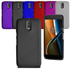 For Motorola Moto G4 Thin Slim Armour Hard Case Clip On Back Cover & Screen
