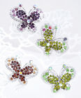 Bubbly Butterfly Rhinestone Fashion Ring (JS0527)