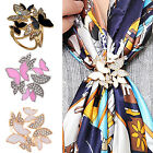 NY Scarf Silk Ring Clip Buckle Women's Jewelry Delicate Scarves Buckle Brooche