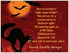 20 30 50 Black Cat & Bats HALLOWEEN PARTY Personalized Invitation