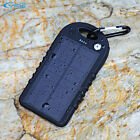 5000mAh Solar Power Bank 2 USB Waterproof  Backup Charger Compass for Cell Phone