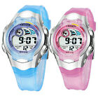 OHSEN Blue/Pink Digital Date Alarm Boys Girls Children Kid Sports Wrist Watch
