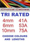 12/24v Automotive Cable Tri Rated 4.0mm, 6.0mm, 10mm, 240v 12/24v Charging Solar