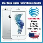 Premium FACTORY UNLOCK SERVICE AT T CODE ATT IPhone 3 4 5 5S 6 6s SE 7Clean IMEI