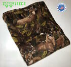 ZooFleece Brown Deer Elk Buck Animal Camouflage Hunting Blanket Throw 60X60""