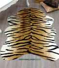 ANIMAL HIDE TIGER PRINT FAUX FUR RUG SOFT NON SLIP WASHABLE COMES IN 3 SIZES
