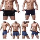 Mens Trunks Underwear Boxer Briefs Shorts Bulge Pouch Soft Shorts Underpants