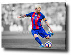 LIONEL MESSI CANVAS PRINT POSTER PHOTO 2016/2017 WALL ART BARCELONA FC **NEW**