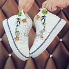 Korean Women Cute Fashion Sneakers Lace-up High Top Ankle Boots Canvas Shoes New