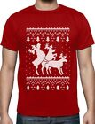 Ugly Christmas Party Sweater Humping Reindeer Funny T-Shirt Gift