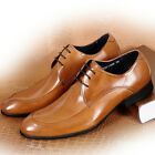 Men's Cow Leather Shoes Dress Formal Business Lace ups Black Brown Size5~11 W505