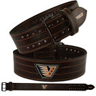 """VELO Weight Lifting 4"""" Suede Leather Belt Back Support Strap Gym Power Training"""