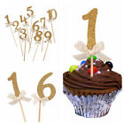 10PCS Number Cupcake Topper Birthday Decor Kids Party Favors