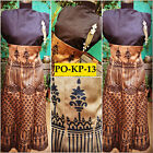Bollywood Inspired -Designer Digital Printed Beige & Black Silk Kurti - PO-KP-13