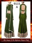 Bollywood Inspired : Wedding Wear Mehendi Green Raw Silk Lehenga Choli - 9115-A