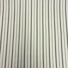 "Fryetts Thin Stripe 100% Cotton Fabric, 54"" Wide, SALE Naturals & Greys"
