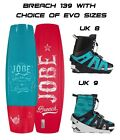 Jobe Breach Wakeboard  139cm, with EVO Wakeboard Bindings only £420