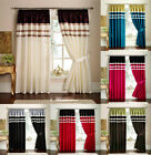 Faux Silk Pencil Pleat Curtains Pair Of Ready Made Curtains Fully Lined Ring Top