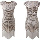 Women's Flapper Dresses 1920s Beaded Fringed Great Gatsby Dress Plus Size 4-24