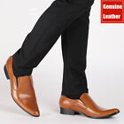 Men's Genuine Cow Leather Shoes Dress Formal Business Black Brown Size 5~12 1115