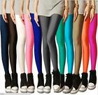 Women Stretch Leggings Full Length Solid Color Slim Pants Stylish Skinny Trouser
