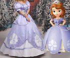 Sofia the First Disney Cosplay Kostüm Abend-kleid lang long Dress Purple Outfit