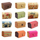Bamboo Storage Box Home Organizer Jewelry Beads Boxes Wooden Trinket Storage WK
