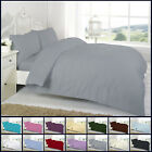 Egyptian Cotton Duvet Cover Set with Tread Count Plain Dyed High Quality Bedding