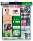 5 Pack Fruit Of The Loom Men's Exposed Waistband Woven Boxers