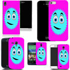 pictoral case cover for most Popular Mobile phones - pink smiler