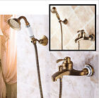 Wall mounted antique brass bronze brushed bathtub faucet with hand shower Mixer