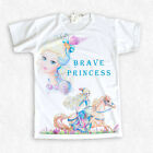 "Girls t-shirt ""Brave Princess"" with my Darling Charming artwork"