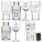 Engraved Personalised Glass Gift Birthday Gifts Presents Ideas For Her Him
