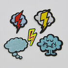 Lightning and clouds EMBROIDERY IRON ON PATCHES BADGE sewn For clothing applique