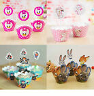 PK12 CUPCAKE LINERS WRAPPERS & CAKE TOPPERS BIRTHDAY WEDDING EVENT PARTY SUPPIES