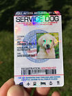 CUSTOMIZE EMOTIONAL SUPPORT THERAPY SERVICE DOG ID CARD ESA ADA BADGE TAG