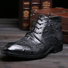 New Men's Shoes Vogue Business Genuine Leather Ankle Boots Gray Size 5-11  37-44
