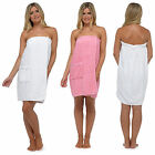Womens Luxury Towel Wrap Toweling Bath Beach Cover Up 100% Cotton Ladies Size