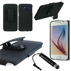 for Samsung Galaxy S6 Edge 2-in-1 Combo Hard Case Clip Holster Free Mini Stylus