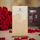 Free Personalized Gold Laser Cut Wedding Party Invitations Cards Envelopes Seals