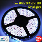5M 24V White 300 LED Flexible Strip Tape Light Super Bright 5050 LED Waterproof