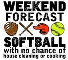 Kyпить Softball Weekend Forecast Bat Glove Iron On T Shirt Pillowcase Fabric Transfer на еВаy.соm