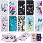 Flip Cover Printed Design Card Wallet PU Leather Case Cover For Various Phones#E