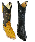 Men Genuine Leather Crocodile Print 2X Toe Boots Style Carr2xcoco