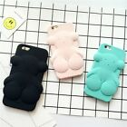 3D Lucky Bear Soft Silicone Phone Back Case Cover Skin For iPhone Various