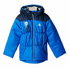 adidas Junior Boys Padded Jacket Coat Blue